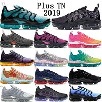 2019 New Nike Air Vapormax plus TN Spirit Teal Geometric Active Laser Fuchsia Psychic Pink Lemon Lime Triple Black Olympic hombres mujeres zapatillas deportivas