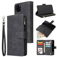 Multifunction Zipper Flip Leather Wallet Card Slots Stand Case For iPhone 11 Pro Max XR XS X 6 7 8 Samsung S8 S9 S10 Plus S10e Note 9 10 10+