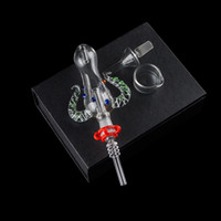 Ox Horn Форма CSYC соломы Pro Kit Цветные стекла Фильтр трубы 14мм Titanium кварца Совет стекла Dish концентрат нефтяных вышек для стекла Бонг