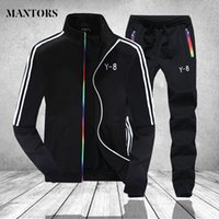 Winter Spring Tracksuit Men 2 Pieces Set Mens Stand Collar Z...