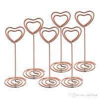 Tablo Numarası Kart Sahipleri Fotoğraf Tutucu Yeri Kart Kağıt Menüsü Klipler Tutucular Stand Kalp Şekli
