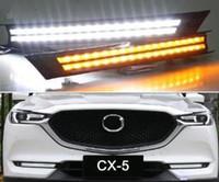 Mazda Için ücretsiz nakliye CX-5 CX5 2017 2018 Akan Dönüş Sinyali Röle Su Geçirmez Araba DRL 12 V LED Gündüz Çalışan Işık Sis Lambası Dekorasyon