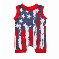 Newborn Infant Baby Boy Girl 4th Of July baby boy clothes su...