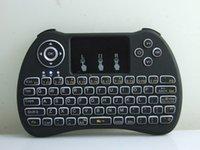 원격 터치 패드 안드로이드 TV 박스 제어 컨트롤러와 2.4GHz의 무선 H9 플라이 에어 마우스 미니 QWERTY 키보드