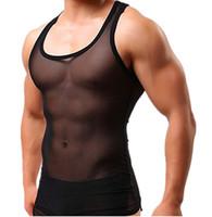 41d343672b01d New Arrival. 2019 Hoti Brave Person Mens Sexy Tank Top Sheer See Through  Shirts Sleeveless Mens Tops Vest Gay Mesh ...