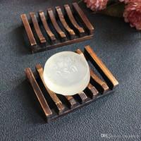 Vintage Style Bagno vassoio del sapone fatto a mano di legno piatto scatola di sapone di legno piatti come casa del supporto di accessori da bagno Accessori