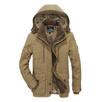 Men Winter Coats Fleece Warm Thick Jackets Men Outerwear Win...