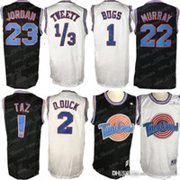 Tune Squad Space Jam Jersey 1 Bugs Bunny AZ 1/3 Tweety 22 Bill Murray 10 Lola 2 D.Duck Jersey di basket