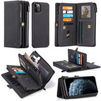 تغطي الحالات مصمم الهاتف لآيفون 11 بطاقة جيوب النقدية فتحات المحفظة حالة الهاتف اي فون المغناطيسي للانفصال 11 الموالية ماكس حالة مصمم الهاتف