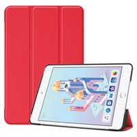 100 pcs livro capa flip smart case para apple ipad mini 4 mini 5 2019 7.9 polegada mini4 mini5 a1538 a1550 tablet