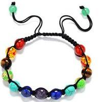 Натуральный камень Lapis Lazuli Tiger Eye 8 мм бусины плетеные веревочные браслеты энергии йога Reiki 7 Chakra браслет 2 цвета