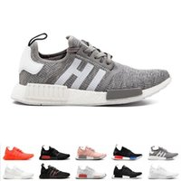 Nmd New 2019 R1 Og Primeknit Running Shoes Classic Triple Re...