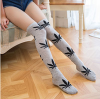 dc461332e New Arrival. Multicolor Maple Leaf Knee-high socks Girls fashion jacquard  over-the-knee socks for teenage adult family matching socks