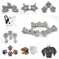10pcs zampa di cane osso protagonista ciondoli chiave collana ciondoli appesi fascini misura per portachiavi portachiavi fai da te produzione di gioielli collare dell'animale domestico