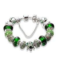 argent bijoux bracelet de charme série gros- luxe design plaqué boîte pour cadeau d'anniversaire perles bracelet plaqué argent Pandora