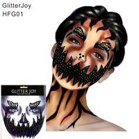 HFG01 Citrouille Maquillage Inspiré Face Bijou Autocollant Corps Peinture Décor pour Noël Cadeau De Vacances