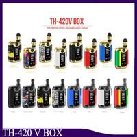 Original Kangvape TH420 V Caixa Kit 800 mAh 20 W Temperatura Ajustável de Potência Vape Mod TH-420V caixa com 0.5 ml Cartucho de Bobina De Cerâmica