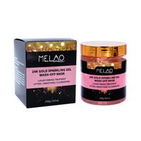 Melao oro 24K Chispeando gel de lavado con máscara 250g Cuidado de la Piel Nutrición oro de la noche jalea Mascarilla Máscara lavable