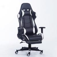 La mentira oficina del hogar cómodo juego nuevo de la llegada del Racing de cuero sintético para sillas de Internet silla de la computadora Cafés cómodo