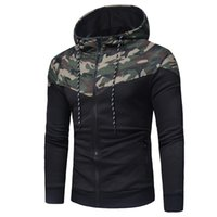 2019 Hoodie Camouflage Zipper Cardigan Hoodies Mens Fashion ...