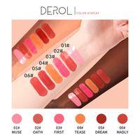 DEROL Liquid Fard 6 colori trucco del fronte Silky Lasting Guancia naturale Rouge Rose Peach colore rosso Shimmer blush in crema cosmetica