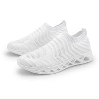 дышащий Модельер кроссовки для мужчин Laceless поскользнуться на Носок Тренажёры Спорт кроссовок Самодельный Brand Сделано в Китае размер 39-44
