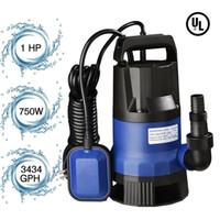 1HP 3432GPH 750W غاطسة المياه القرارة مضخة القذرة النظيفة السباحة بركة بركة الفيضانات