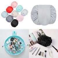 كسول الرباط حقيبة مستحضرات التجميل السفر قدرة كبيرة حقائب ماكياج المحمولة الكرتون يشكلون الحقيبة 11 ألوان