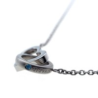Necklace ARNSD043- steel New 316L heart shape double round ne...