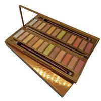العلامة التجارية ماكياج لوحة ظلال العيون العسل 12 الألوان الذهبية المحايد لوحة ماتي ماء طويل ظلال العيون بالإضافة إلى فرشاة DHL دائم