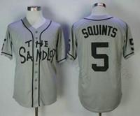 La alta calidad Sandlot Benny 30 'Jet' Rodríguez 5 Michael Palledorous '' Squints 11 Alan Sí-Sí McClennan película jerseys del béisbol