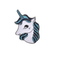 Luxury Women' s Brooch Animal Horse unicorn Enamel Pins ...