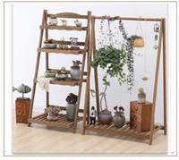 Portabottiglie da pavimento Supporto da fioriera per interni Mensola per fiori in legno massello Salone per interni Mensola per fioriera pensile Decorazione per piante balcone