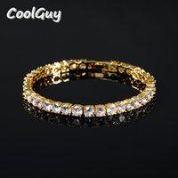Hip de Bracelet Men Cubic Zirconia Ténis de Hop Acessórios Mulheres elegante cadeia de dom Iced Gold Silver 18CM HB0002