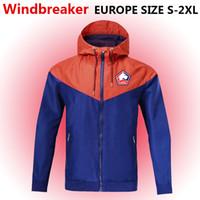Lille LOSC Windjacke Reißverschluss-Jacke, Lille LOSC Kapuze Fußball Windjacke Fußballjacke Sport Lille voller Reißverschluss Mantel Jacken der Männer