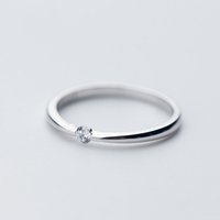 2021 Model Fashion good quality s925 sterling silver ring CZ Solitaire Rings jewelry for Elegant female Women Girls Presents
