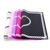 1 Pz Silicone Pieghevole Nail Art Tappetino Pad Carino Dot Design Lace Lavabile Beauty Care Salon Attrezzature Strumenti per manicure