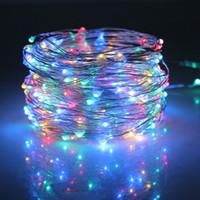 20 PC Ücretsiz DHL 5M 50 LED Bakır Tel LED String Peri Light Chistmas Işıklar Noel Partisi Düğün Dekorasyon için RGB Aydınlatma