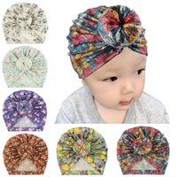 15578 خمر أوروبا اطفال الرضع بنين بنات هات بالأزهار دونات أغطية الرأس للأطفال طفل الاطفال بيني العمامة الأطفال قبعات قبعة