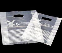 100pcs التي البلاستيك الأبيض هدية كيس من القماش التخزين حقيبة تسوق مع مقبض حفل زفاف كاندي كيك التفاف أكياس