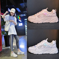 Summer Women Shoes 2019 White Pink Mesh Student Breathable L...