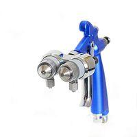 Duplo Bico Nanometer Pistola Air Brush HVLP spray de tinta spray Ferramenta Compressor de ar de dois componentes do bocal
