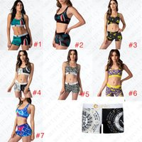 Sommer-Damen-Badeanzug Cartoon Shark Printed Bademode Push-Up-BH Tank-Top Weste Badeshorts 2ST Frauen Trendy Bikini Set Bademode D51903