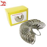 US Sizes 1-27 Metal Bangle Measuring Sizer Round Bracelet Size Measure Tool Watch Bracelet Bangle Size Gauge Measuring Circle