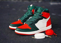 SoleFly x Jumpman 1 High OG Black Team Orange- Fir Green Bask...