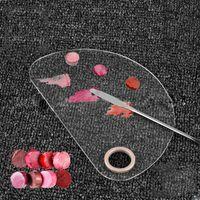 1PCS لوحة ظلال إفراغ مؤسسة المخفي مسحوق بان خلط أداة جعل ماكياج حتى لوحات الألوان مستحضرات التجميل أداة البسط المقالي
