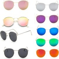 New Fashion Small Retro Round Red Sunglasses Men Women Vintage Circle black pink Lens Hippie Sun Glasses