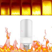 E26 E27 LED لهب تأثير النار ضوء لمبة SMD 2835 الإيماض مضاهاة بقيادة مصباح لمبات 5W 1800-2000k أبيض دافئ