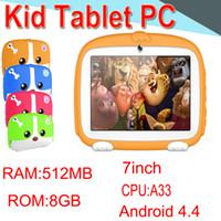 "HL Kids Band Tablet PC 7 ""Quad Core Kinder Tablet Android4.4 512MB 8GB Allwinner A33 WIFI Lautsprecher Schutzhülle XPB"