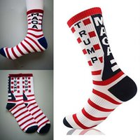 3 estilos 2020 Trump Stripes Calcetines Unisex Hombres Mujeres Medias de algodón Presidente Donald Trump Make America Great Again Happy Socks M530F
